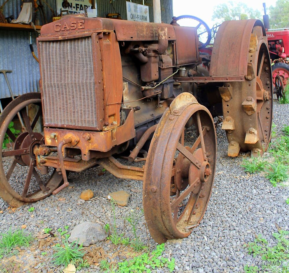 Old Case Tractor by ZanneArt
