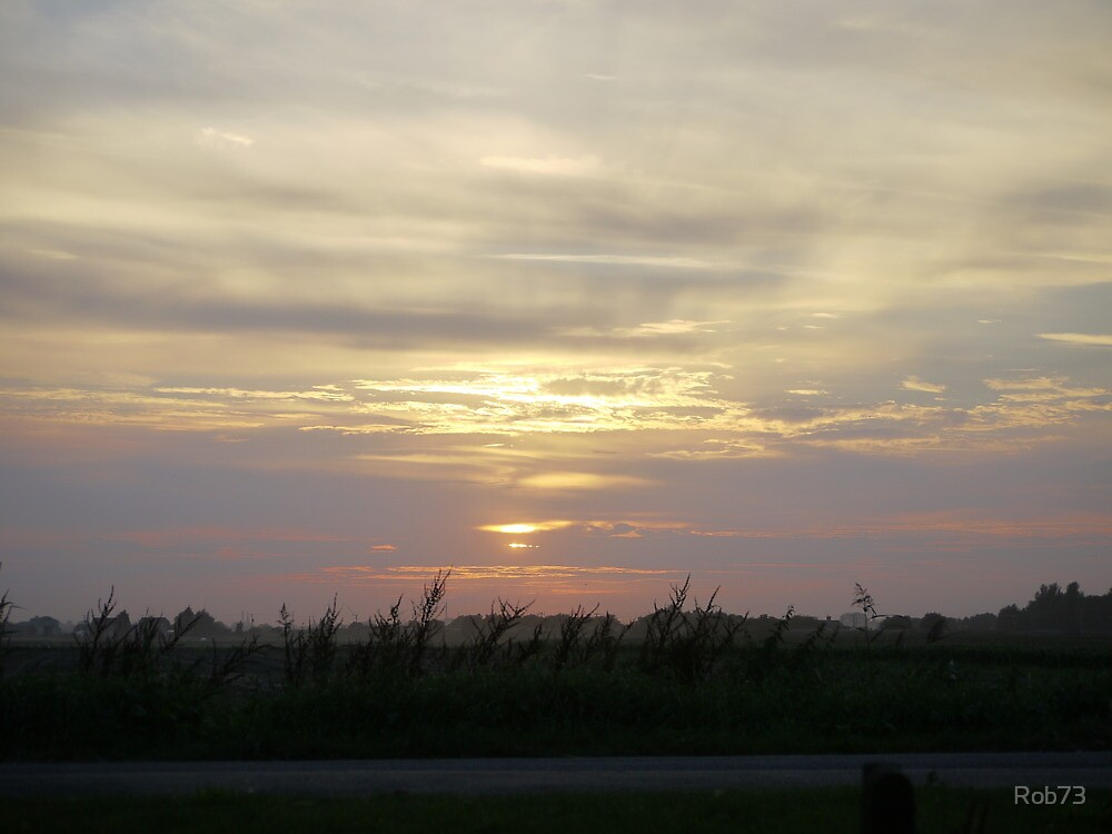 Sunset Across the Fens by Rob73