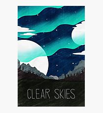 Tamriel Shout - Clear Skies Photographic Print