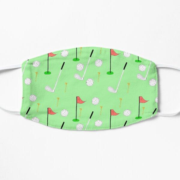 Golf motif face mask Flat Mask