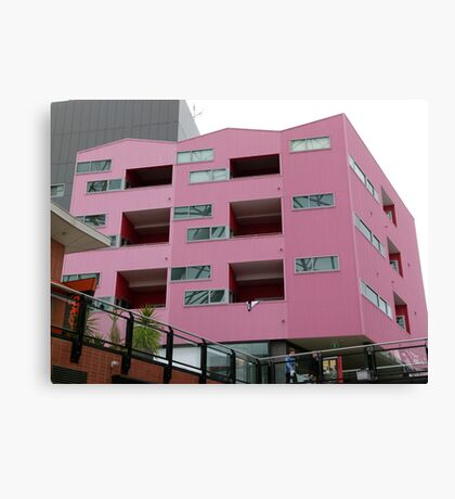 Cubism in Pink Canvas Print