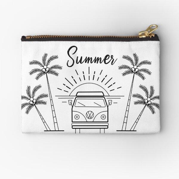 Summer camping palms Zipper Pouch