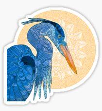Egret Sun Sticker