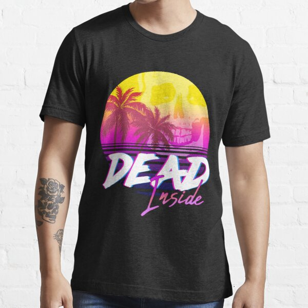 Dead Inside - Vaporwave Miami Aesthetic Spooky Mood Essential T-Shirt