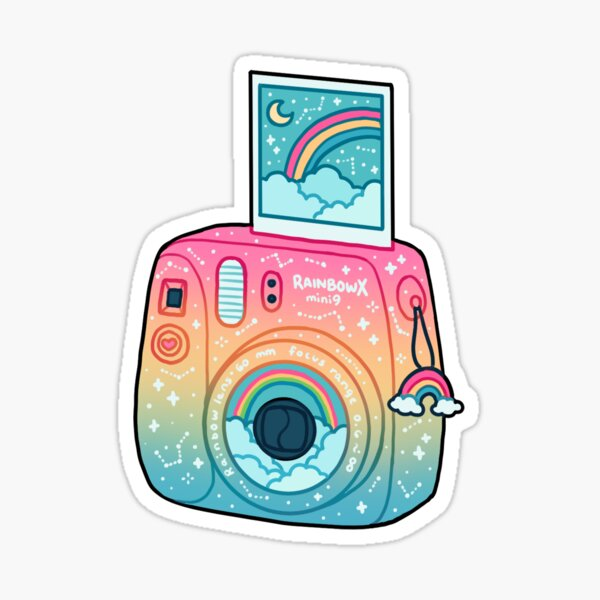 rainbow polaroid Sticker