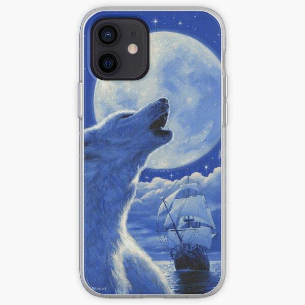 White Wolf - Art by Greg Hildebrandt iPhone Soft Case