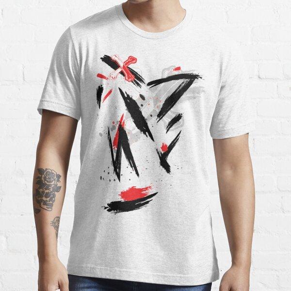 Carlos De Vil Red and Black Brush Essential T-Shirt