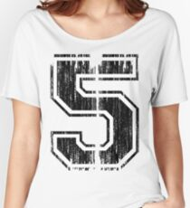 Bold Distressed Sports Number 5 Women's Relaxed Fit T-Shirt