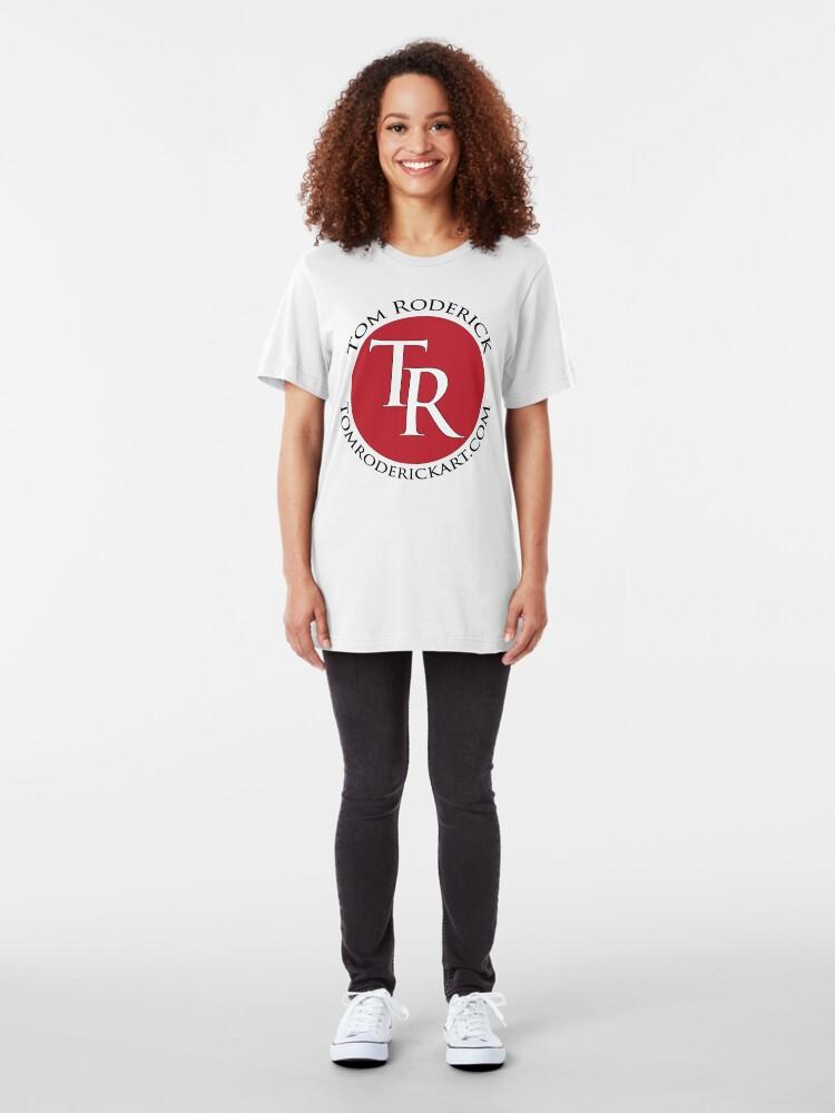Alternate view of tomroderickart.com Slim Fit T-Shirt
