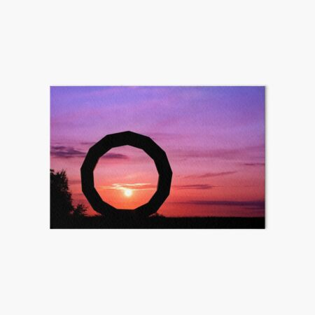 Sunset at Heavens Gate Art Board Print