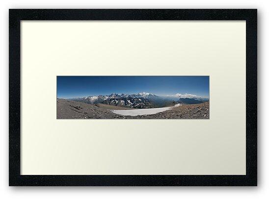 Mt. Blanc Massif by Ruben Emanuel