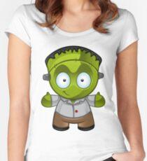 Frankenstein Monster Boy Smiling Women's Fitted Scoop T-Shirt