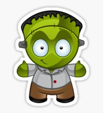 Frankenstein Monster Boy Smiling Sticker