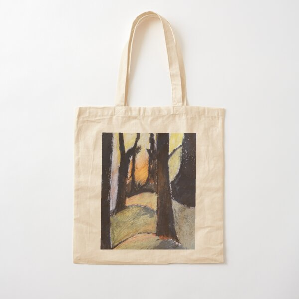 Forest and sunset Cotton Tote Bag