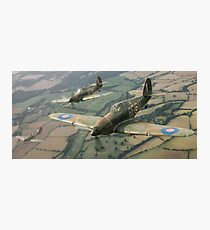 Hawker Hurricanes from 303rd RAF Squadron on patrol. Photographic Print