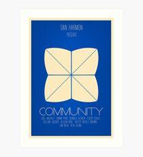 Community - Minimalist Movie Posters Art Print