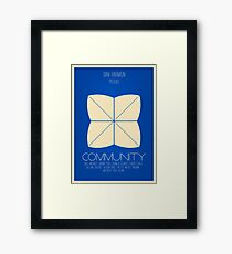 Community - Minimalist Movie Posters Framed Print
