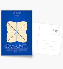 Community - Minimalist Movie Posters Postcards