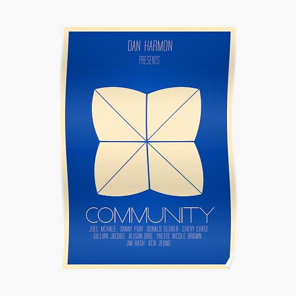 Community - Minimalist Movie Posters Poster