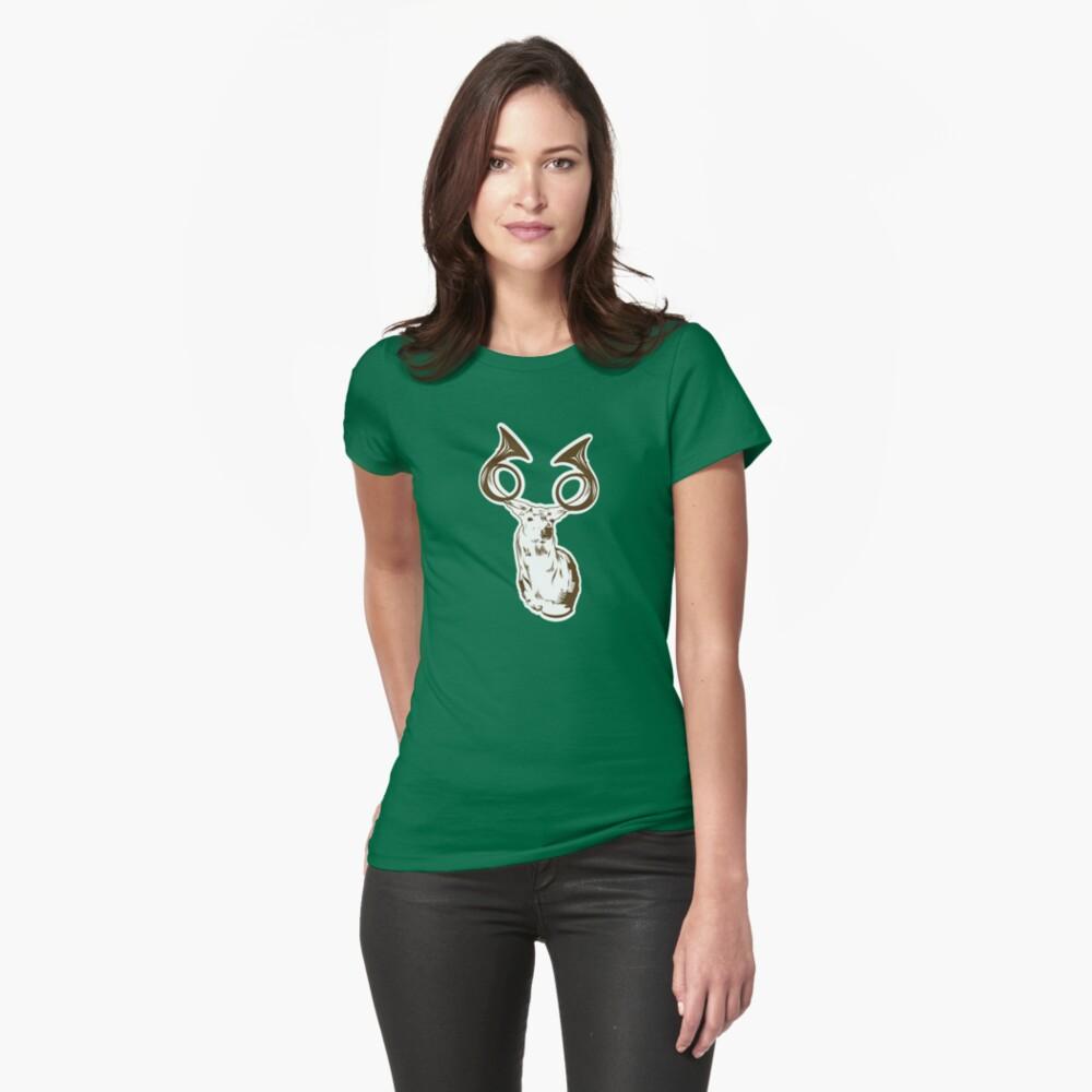 Hunting Motivation - Trophy Deer Horns Fitted T-Shirt