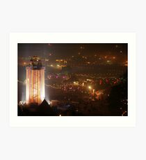 The Park and Tower. Sat. 3am Art Print