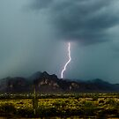 Superstition Mountain Lightning Bolt by J. Michael Runyon