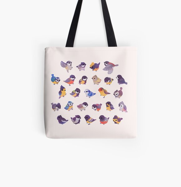 Little bird (Paridae) All Over Print Tote Bag