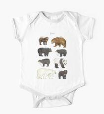 Bears Short Sleeve Baby One-Piece