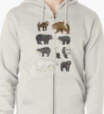 Bears Zipped Hoodie