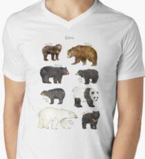 Bären T-Shirt mit V-Ausschnitt für Männer
