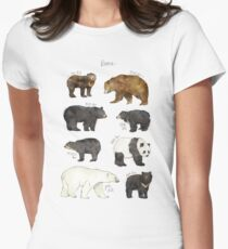 Bären Tailliertes T-Shirt für Frauen