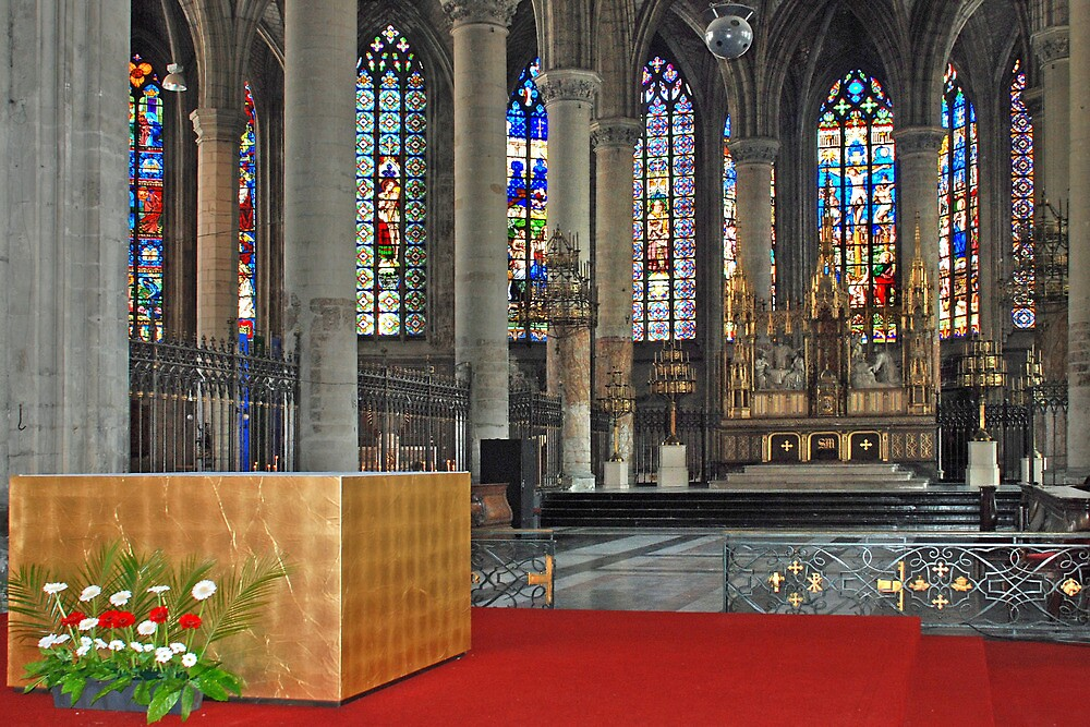 Eglise Saint Maurice - Lille - France by Arie Koene