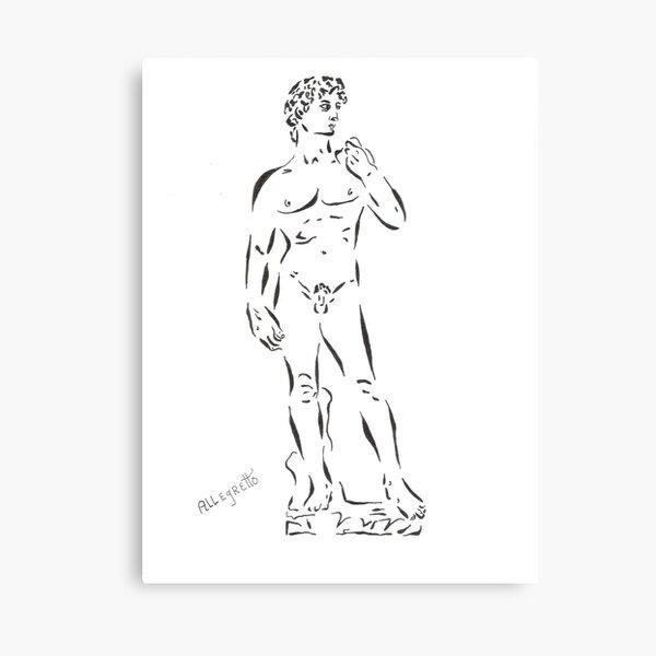 De-Constructing David Canvas Print