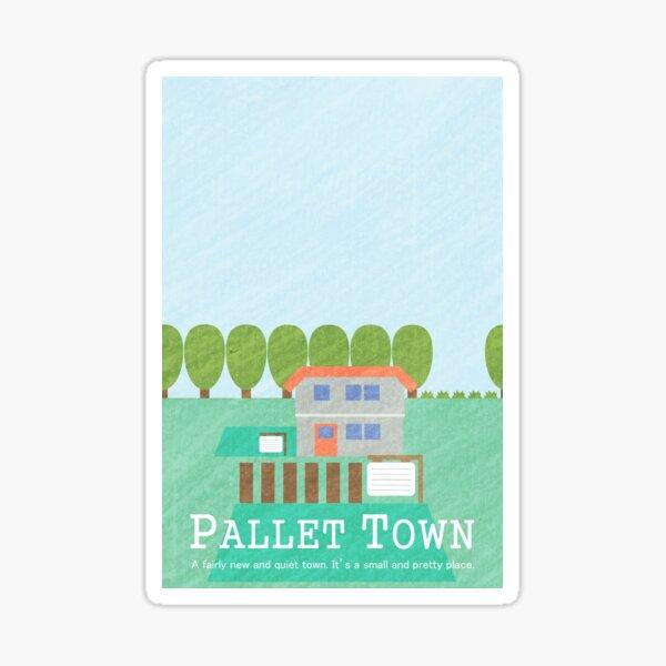 Pallet Town Print Sticker