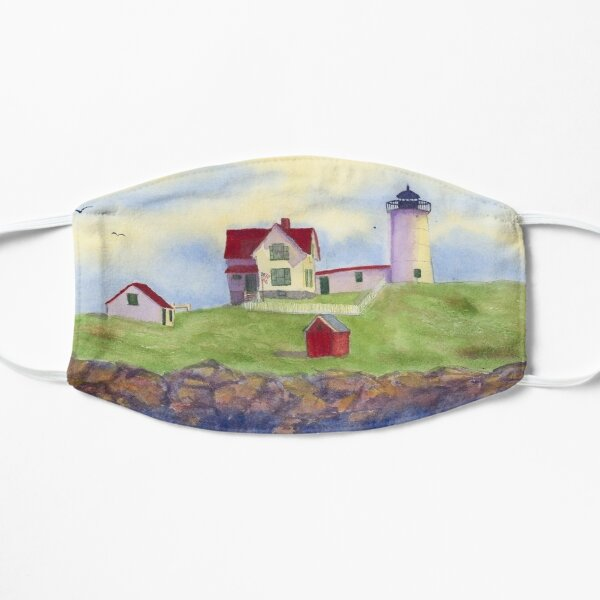 Nubble Lighthouse Cape Neddick York Maine  Flat Mask