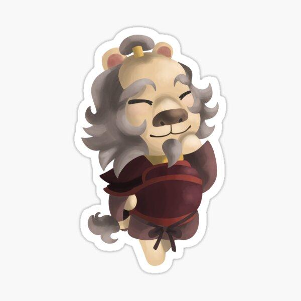 Oncle Iroh pour mon ATLA X ACNH AU Sticker
