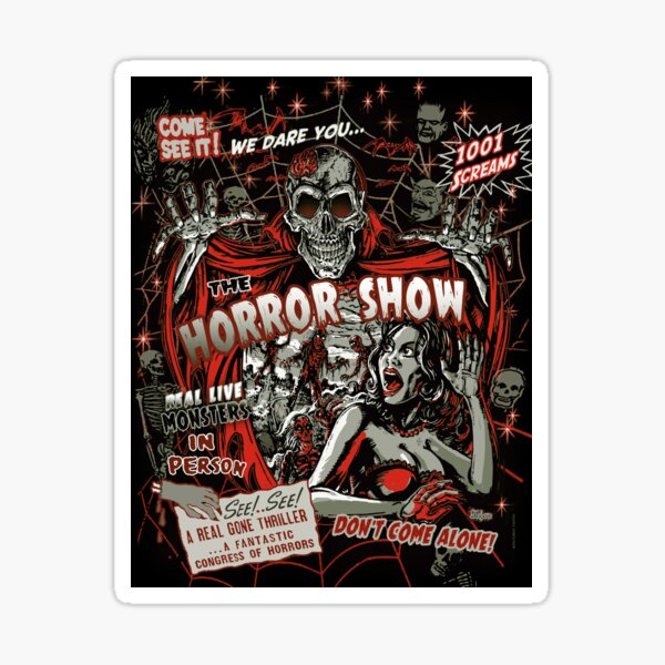 Spook Show Horror movie Monsters  Sticker