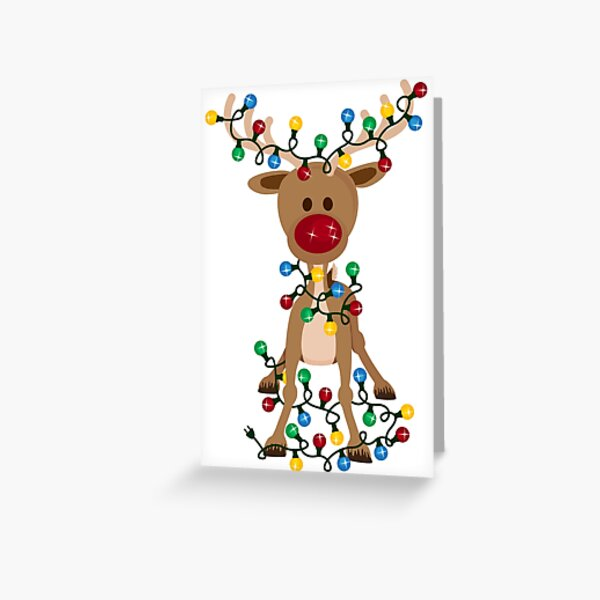 Adorable Reindeer Greeting Card