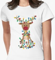 Adorable Reindeer Women's Fitted T-Shirt