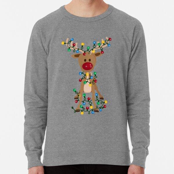 Adorable Reindeer Lightweight Sweatshirt