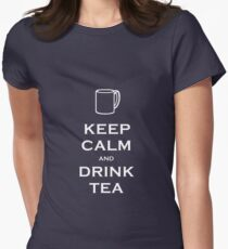 Keep Calm and Drink Tea Women's Fitted T-Shirt