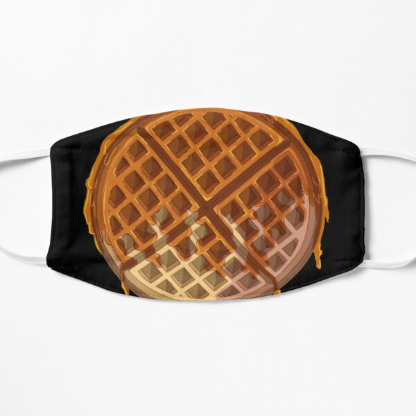 Digitally painted with Adobe Photoshop. Ideal for waffle lovers. Flat Mask