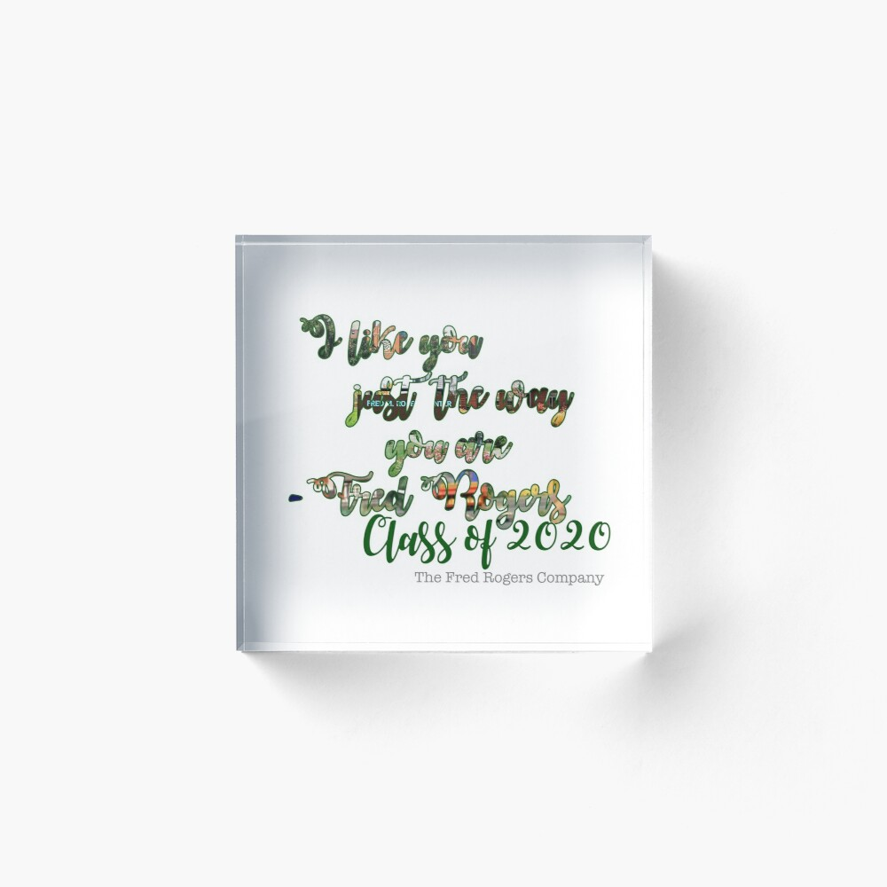 Fred Rogers Quote Svc Class Of 2020 Art Board Print By Average Mermaid Redbubble