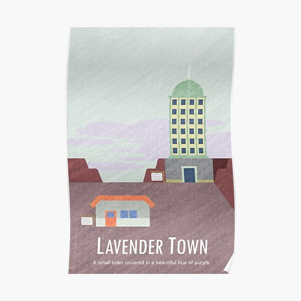 Kanto Towns - Lavender Town Poster