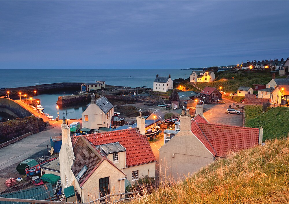 st abbs at dusk by paul mcgreevy