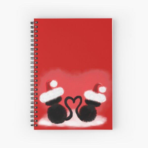 Weihnachtskatzen mit Herz Spiralblock
