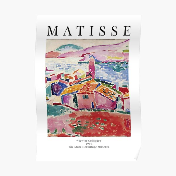 Henri Matisse - View of Collioure - Exhibition Poster Poster