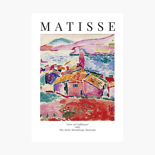 Henri Matisse - View of Collioure - Exhibition Poster Photographic Print