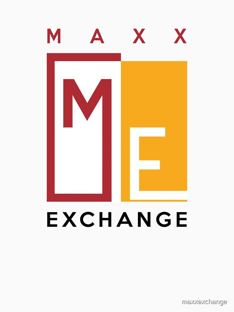Maxx Exchange Brand Crimson and Gold Emblem Logo. by maxxexchange