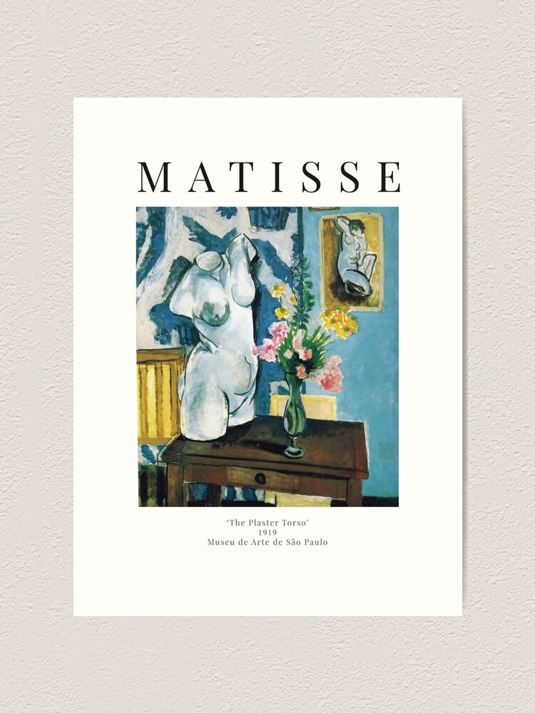 Alternate view of Henri Matisse - The Plaster Torso - Exhibition Poster Art Print